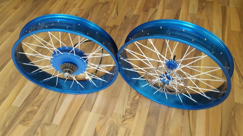 blau Eloxal   24 x 100