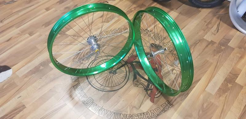 grün Eloxal 24 x65/ 80
