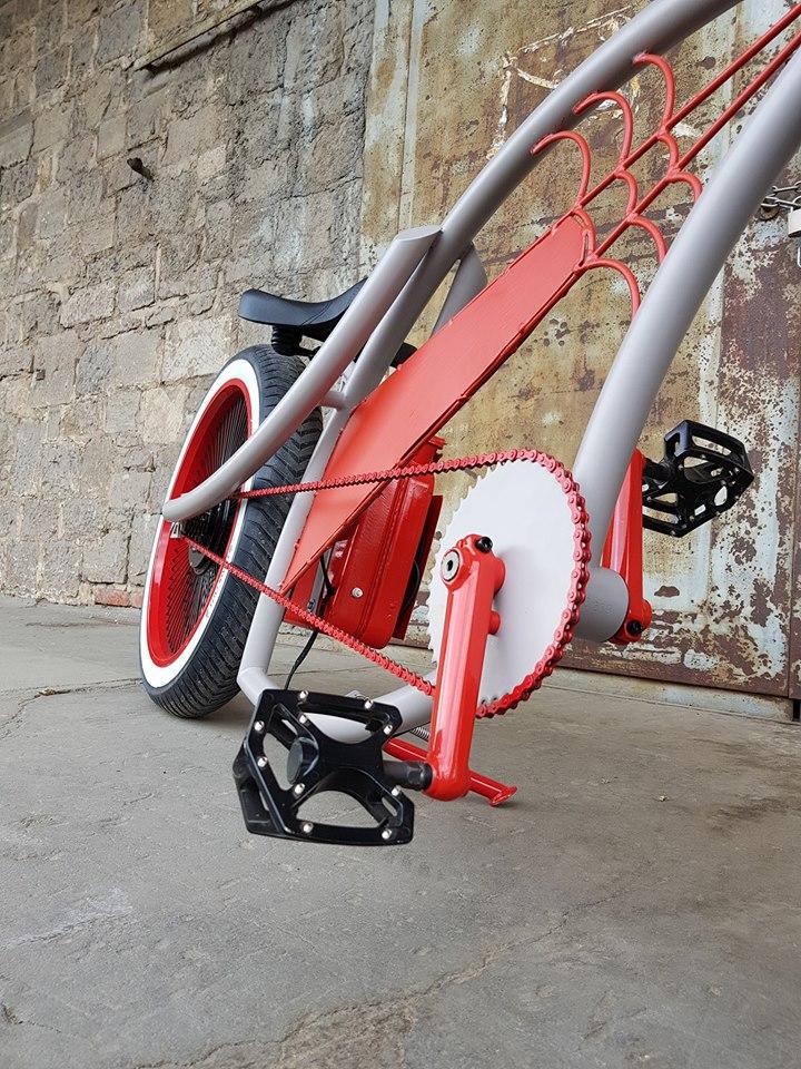 E-Firebike grau /rot